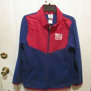 NEW YORK GIANTS TEAM APPAREL YOUTH XL 14/16 JACKET